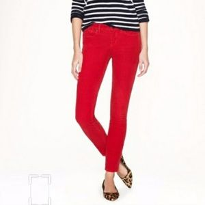 J.Crew Red Matchstick Jeans Ready for Christmas!!